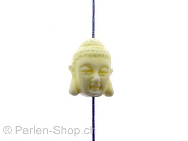 Buddha Coral, Color: white, Size: ±16x12x12mm, Qty: 1 pc.