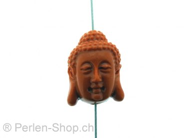 Buddha Coral, Color: red, Size: ±19x15x13mm, Qty: 1 pc.