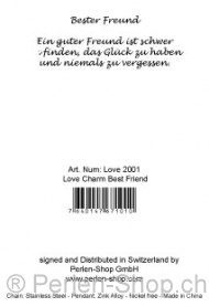 Love Charm – Best Friend, Qty: 1pc.