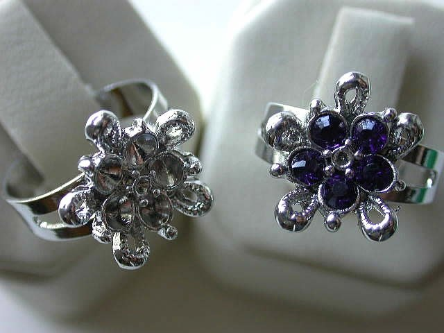 perlen fingerring flower verstelbar zum kleben 1 stk. Black Bedroom Furniture Sets. Home Design Ideas