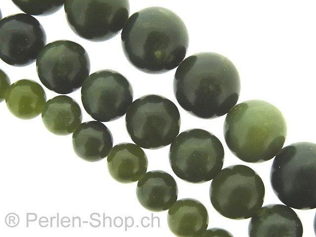 perlen canada jade halbedelstein farbe gr n gr sse 6mm menge 1 strang 40cm. Black Bedroom Furniture Sets. Home Design Ideas