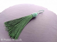 Silk Tassels, Color: green, Size: ±9/14cm, Qty:1 pc.
