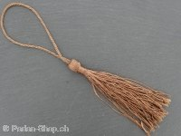 Tassel, Color: dark brown, Size: ±8/13cm, Qty:1 pc.