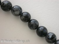 "Shiny Stone, Semi-Precious Stone, Color: grey, Size: ±10mm, Qty: 1 string 16"" (±39 pc.)"