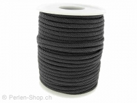 Cotton Cord, Color: grey, Size: ±3mm, Qty: 1 Meter