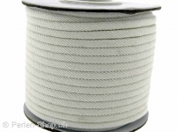 Cotton Cord, Color: white, Size: ±3mm, Qty: 1 Meter