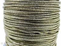 Aluminum wire wrapped in polyster, Color: gold, Size: ±2mm, Qty: 1 Meter