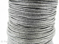 Aluminum wire wrapped in polyster, Color: silver, Size: ±2mm, Qty: 1 Meter