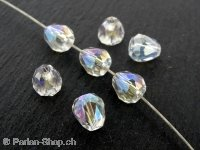Drop Beads, Color; crystal irisierend, Size: ±8x8mm, Qty: 2 pc.