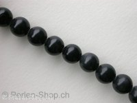"Blackstone, Semi-Precious Stone, Color: black, Size: ±10mm, Qty: 1 string 16"" (±39 pc.)"