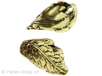 Metal leaf, Color: gold, Size: ±20mm, Qty: 1 pc.