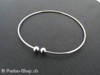 Bracelet with screw head, Color: silver, Size: ±1.2mm, Qty: pc.