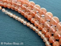 Cherry Quartz Pierres gemmes, Couleur: rouge, Taille: ±4 mm, Quantite: 1 String ±40cm (±94 piece)