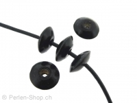 Wooden Bead rondel, Color: black, Size:±14x6mm, Qty: 10 pc.